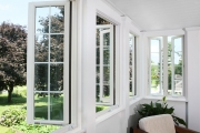 Bel Air Construction company photo shoot Anderson Windows in Sunroom by Maryland based Commercial photographers by Robin Sommer and Bill Rettberg of MidAtlantic Photographic LLC