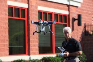Photo of Bill Rettberg with DJI Phantom 4 Pro Drone/UAS