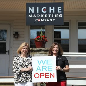 Niche Marketing Company We Are Open Campaign