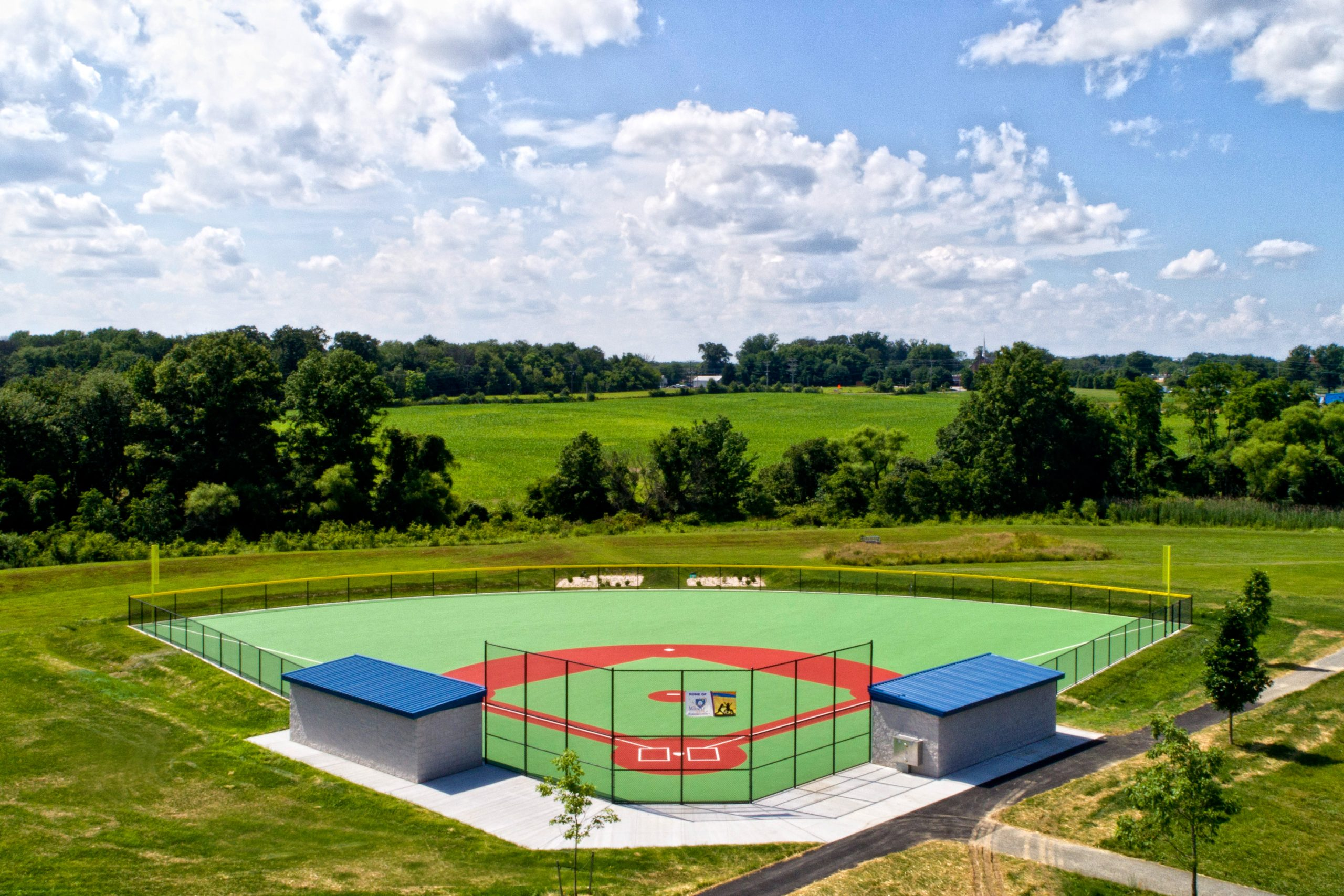 Miracle League of Harford County Ball Field photographed by Commercial photographers Robin Sommer and Bill Rettberg of MidAtlantic Photographic LLC