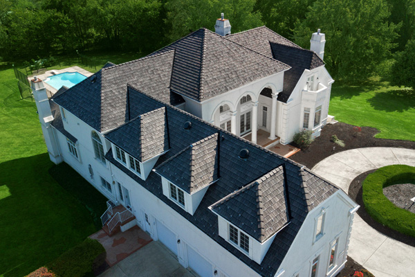 Aerial photography of composite Shake Roofing Shingles by MidAtlantic Photographic LLC
